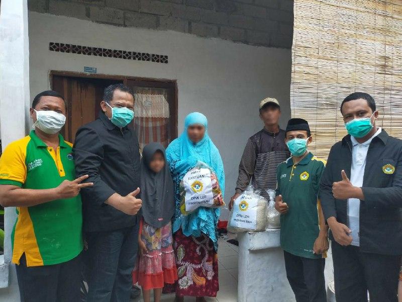 Rasa Empati LDII Bali kepada Masyarakat yang Terdampak Virus Covid-19