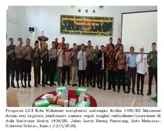 Kodim 1408/ BS Makassar Gelar Pembinaan Komsos