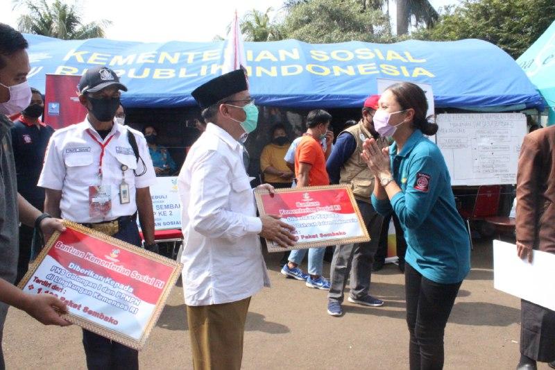 Bantu Masyarakat Terdampak COVID-19 LDII Ikut Salurkan Bantuan Kemensos