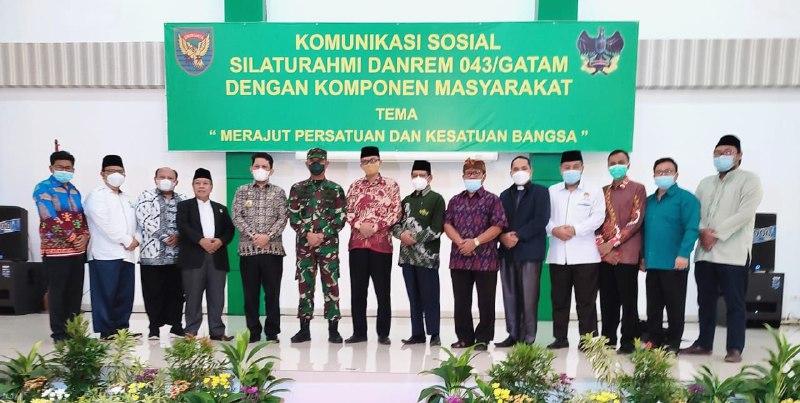 Komunikasi Sosial Korem 043 Gatam Lampung, LDII Usulkan Pendidikan Bela Negara